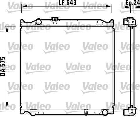 Radiateur, refroidissement du moteur - VALEO - 734205