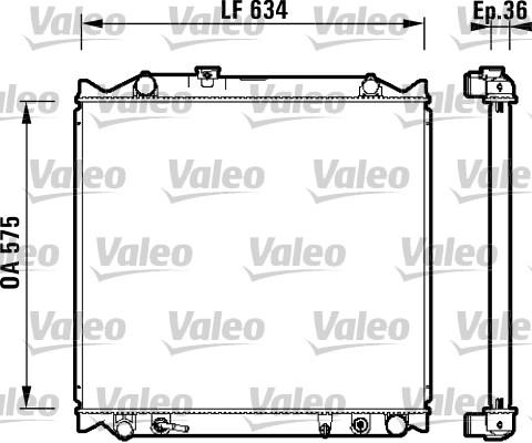 Radiateur, refroidissement du moteur - VALEO - 734206