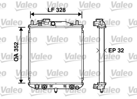 Radiateur, refroidissement du moteur - VALEO - 734208