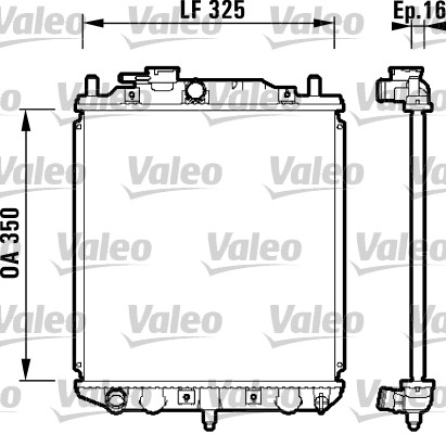 Radiateur, refroidissement du moteur - VALEO - 734209
