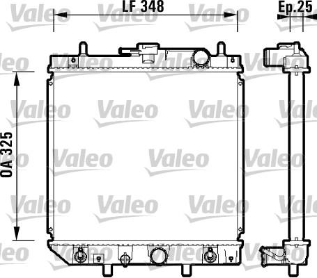 Radiateur, refroidissement du moteur - VALEO - 734210