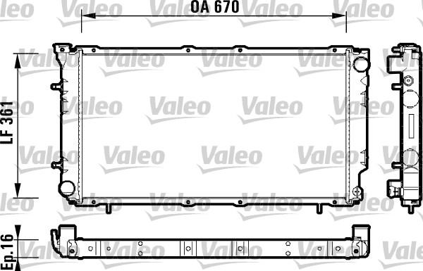 Radiateur, refroidissement du moteur - VALEO - 734211