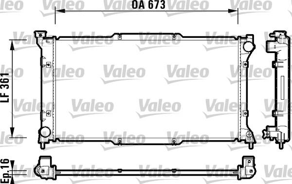 Radiateur, refroidissement du moteur - VALEO - 734212