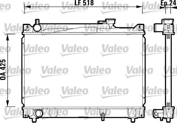 Radiateur, refroidissement du moteur - VALEO - 734213