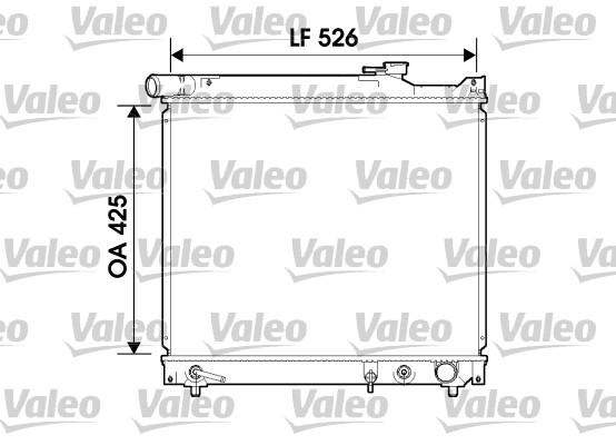 Radiateur, refroidissement du moteur - VALEO - 734214