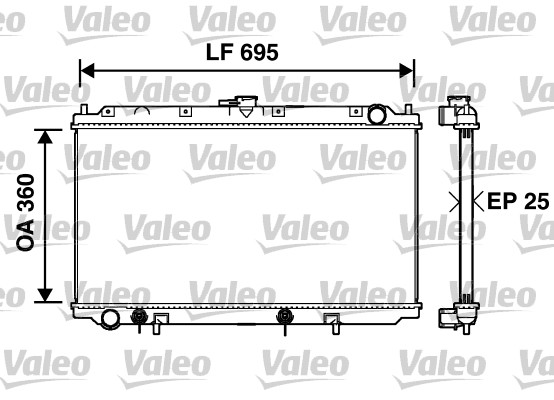 Radiateur, refroidissement du moteur - VALEO - 734215