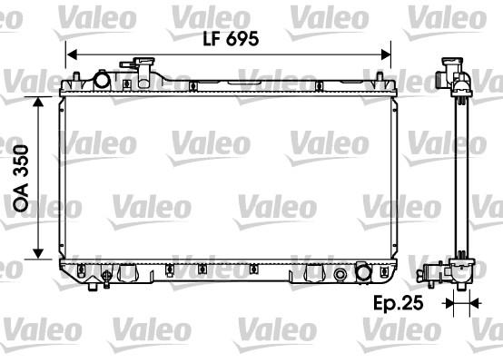 Radiateur, refroidissement du moteur - VALEO - 734216