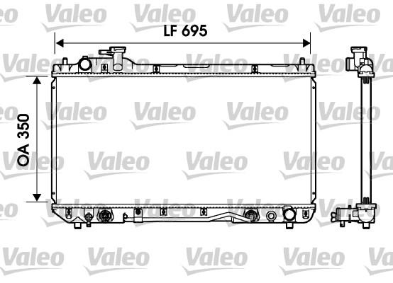 Radiateur, refroidissement du moteur - VALEO - 734217