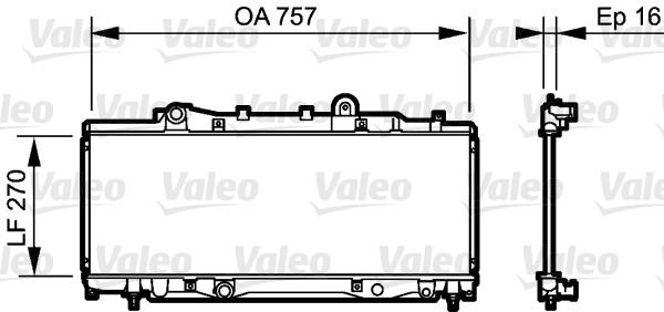 Radiateur, refroidissement du moteur - VALEO - 734219