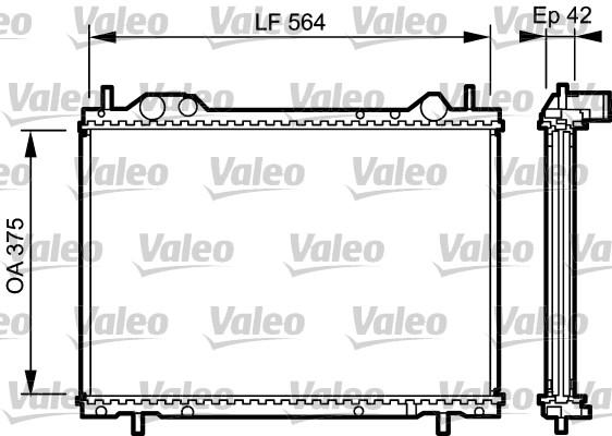 Radiateur, refroidissement du moteur - VALEO - 734220