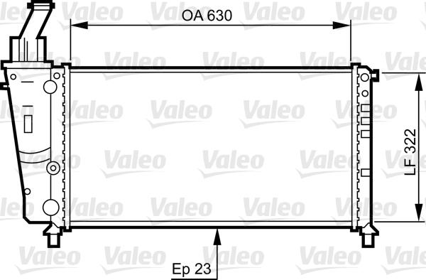 Radiateur, refroidissement du moteur - VALEO - 734221