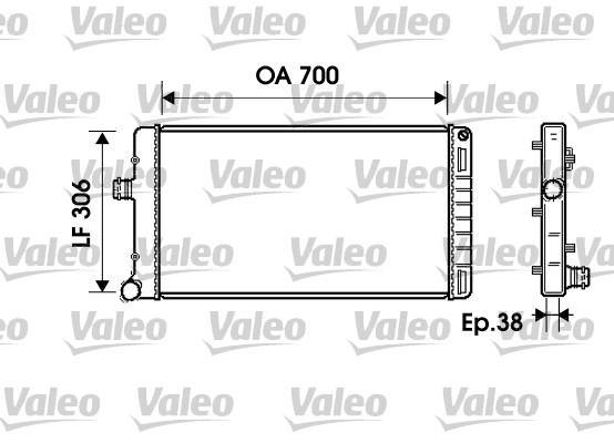 Radiateur, refroidissement du moteur - VALEO - 734224