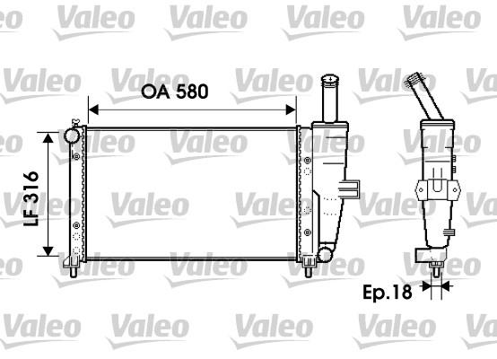 Radiateur, refroidissement du moteur - VALEO - 734225