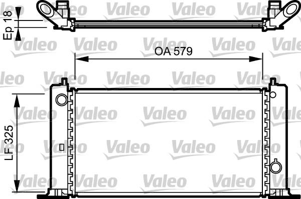 Radiateur, refroidissement du moteur - VALEO - 734228