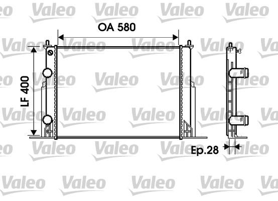 Radiateur, refroidissement du moteur - VALEO - 734229