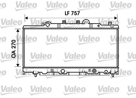 Radiateur, refroidissement du moteur - VALEO - 734235