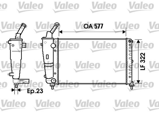 Radiateur, refroidissement du moteur - VALEO - 734237