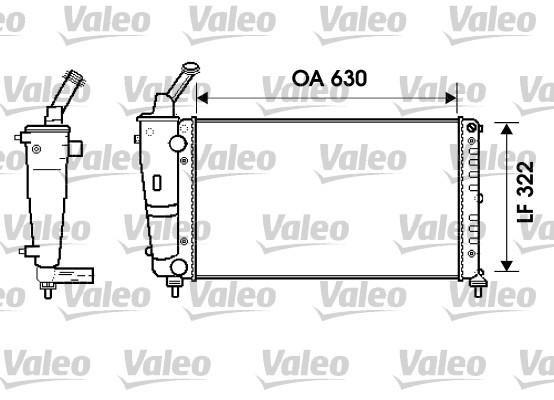 Radiateur, refroidissement du moteur - VALEO - 734238