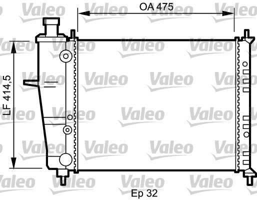 Radiateur, refroidissement du moteur - VALEO - 734239