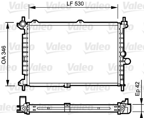 Radiateur, refroidissement du moteur - VALEO - 734242