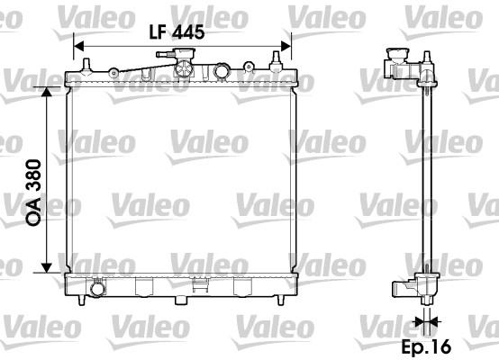 Radiateur, refroidissement du moteur - VALEO - 734246