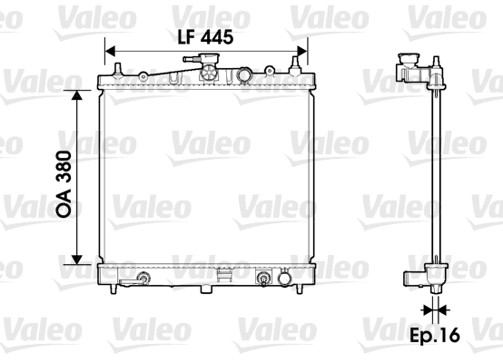 Radiateur, refroidissement du moteur - VALEO - 734247