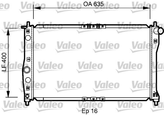 Radiateur, refroidissement du moteur - VALEO - 734248