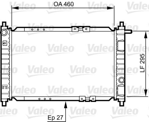 Radiateur, refroidissement du moteur - VALEO - 734250