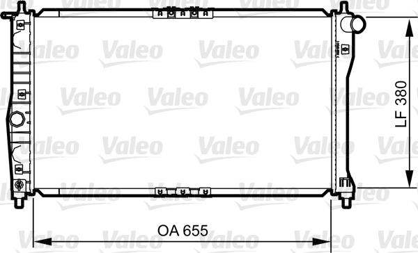 Radiateur, refroidissement du moteur - VALEO - 734252