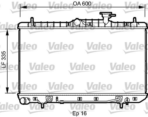 Radiateur, refroidissement du moteur - VALEO - 734253