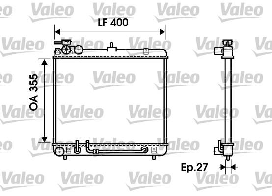 Radiateur, refroidissement du moteur - VALEO - 734254