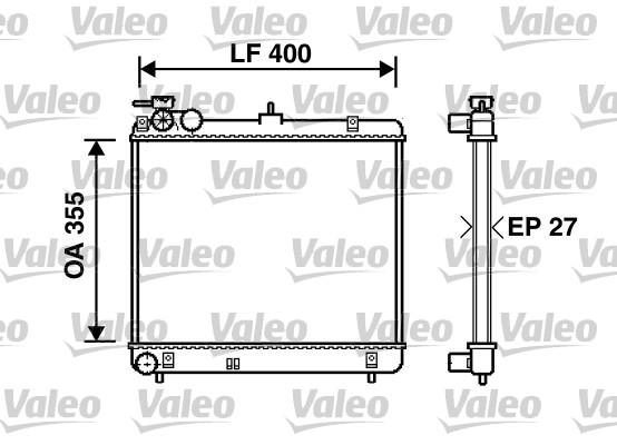 Radiateur, refroidissement du moteur - VALEO - 734255