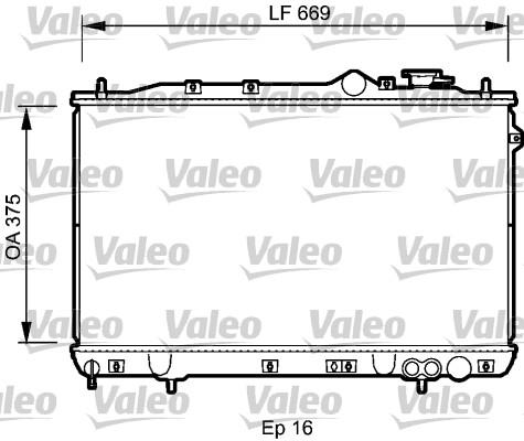 Radiateur, refroidissement du moteur - VALEO - 734256