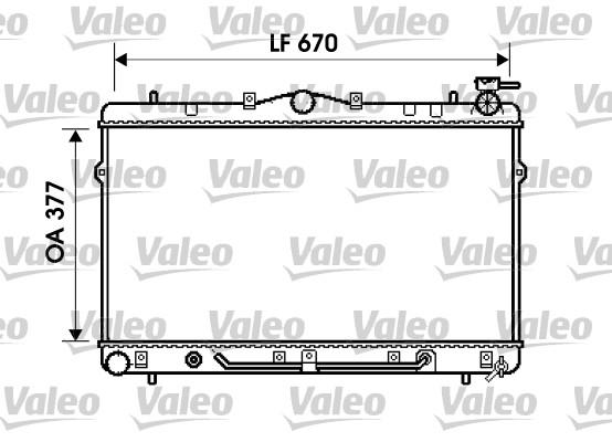 Radiateur, refroidissement du moteur - VALEO - 734258