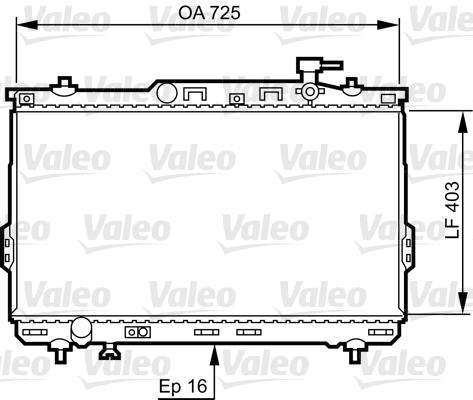 Radiateur, refroidissement du moteur - VALEO - 734259