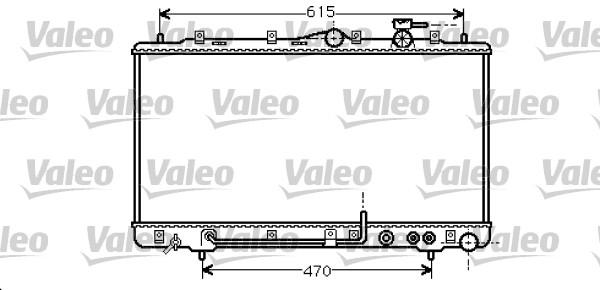 Radiateur, refroidissement du moteur - VALEO - 734261