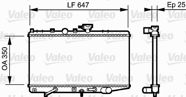 Radiateur, refroidissement du moteur - VALEO - 734263