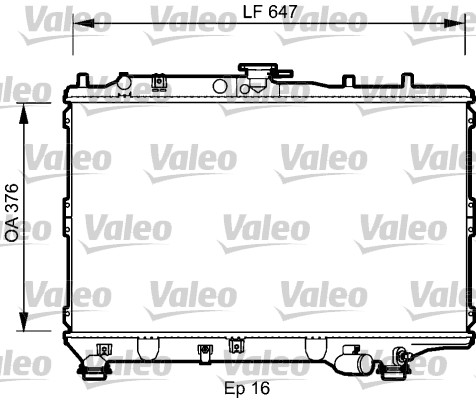 Radiateur, refroidissement du moteur - VALEO - 734264