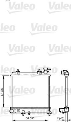 Radiateur, refroidissement du moteur - VALEO - 734266