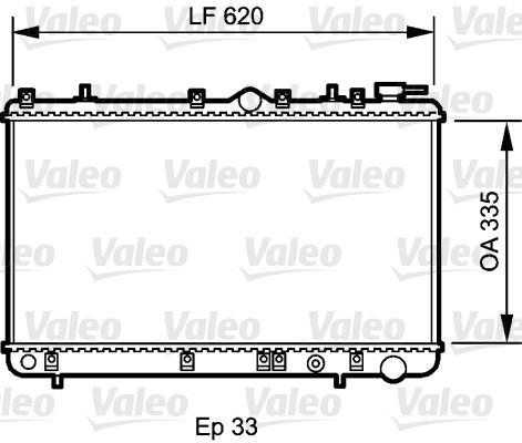 Radiateur, refroidissement du moteur - VALEO - 734267