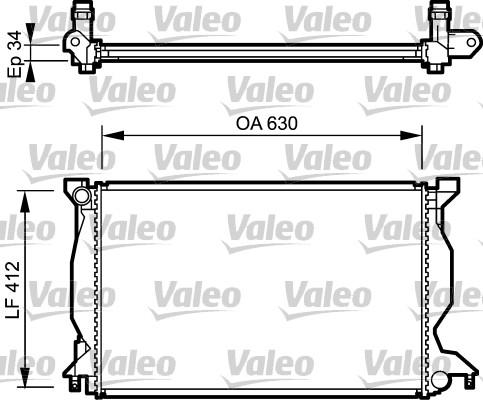 Radiateur, refroidissement du moteur - VALEO - 734268