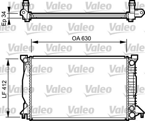Radiateur, refroidissement du moteur - VALEO - 734270