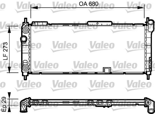 Radiateur, refroidissement du moteur - VALEO - 734271