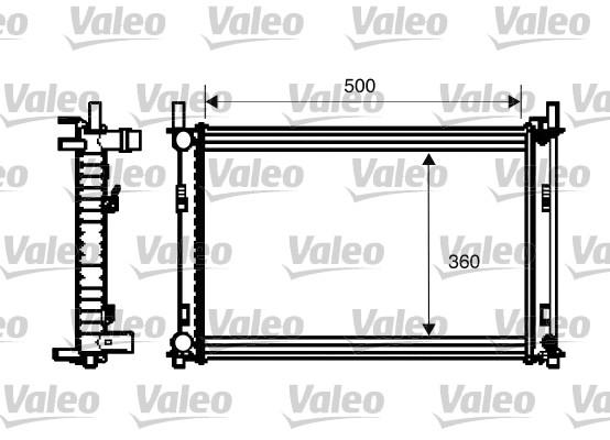 Radiateur, refroidissement du moteur - VALEO - 734272