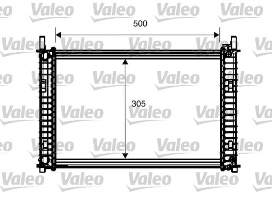 Radiateur, refroidissement du moteur - VALEO - 734274