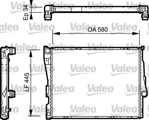 Radiateur, refroidissement du moteur - VALEO - 734276