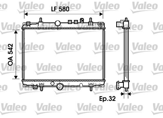 Radiateur, refroidissement du moteur - VALEO - 734279