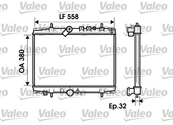 Radiateur, refroidissement du moteur - VALEO - 734280