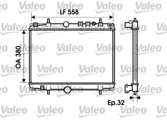 Radiateur, refroidissement du moteur - VALEO - 734281