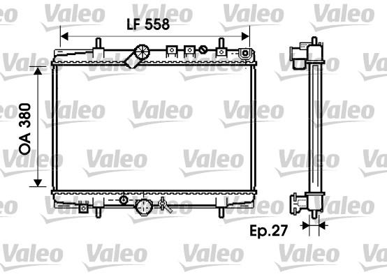 Radiateur, refroidissement du moteur - VALEO - 734282